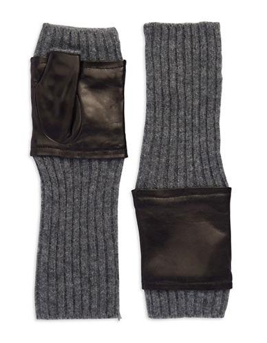 CAROLINA AMATOLeather Accented Fingerless Gloves