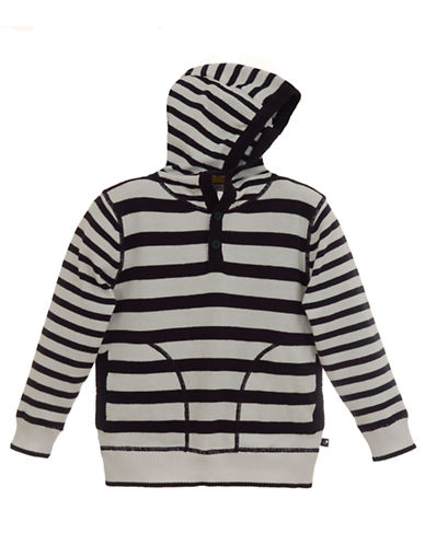 Baby Boys 12-24 Months Long-Sleeve Striped Cotton Hooded Sweater