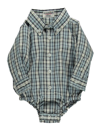 HARTSTRINGS Baby Boys Plaid Bodysuit