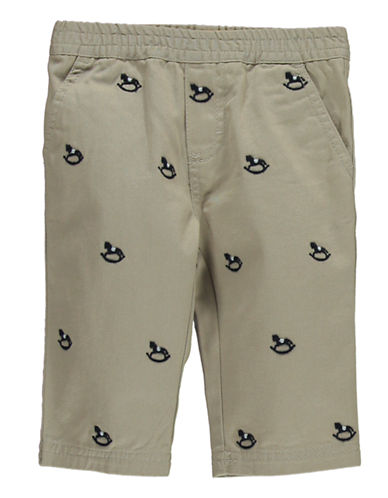 HARTSTRINGSBaby Boys Embroidered Cotton Twill Pants