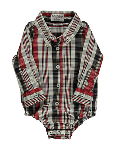 HARTSTRINGS Baby Boys Cotton Plaid Bodysuit