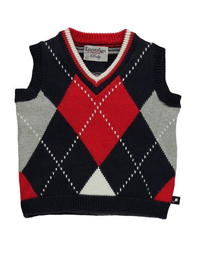HARTSTRINGSBaby Boys Cotton V-Neck Sweater Vest