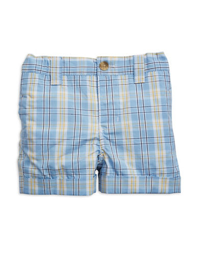 HARTSTRINGS Baby Boys Cotton Plaid Shorts
