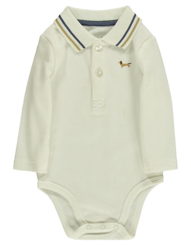 HARTSTRINGS Baby Boys Interlocked Cotton Polo Bodysuit