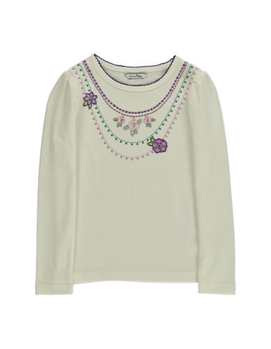 HARTSTRINGS Girls 2-6x Necklace Embroidered Tee