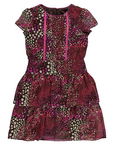 KC PARKERGirls 7-16 Chiffon Ruffle Hem Dress