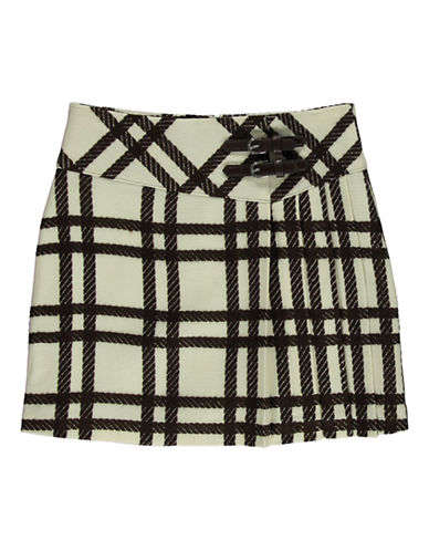 KC PARKERGirls 7-16 Textured Plaid Boucle Skirt