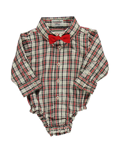 HARTSTRINGS Baby Boys Plaid Cotton Bodysuit