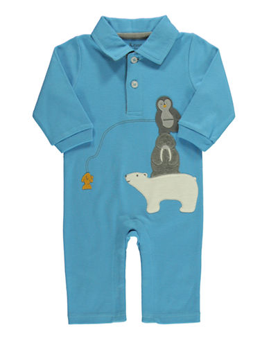 HARTSTRINGS Baby Boys Appliqued Polo Bodysuit