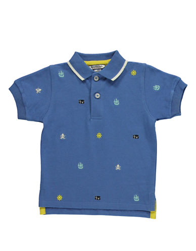 HARTSTRINGS Baby Boys Baby Boys Pirate Embroidered Polo Shirt