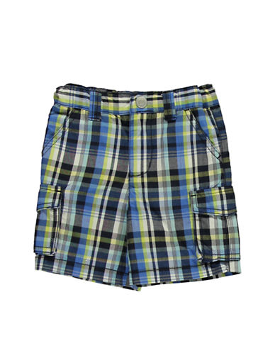 HARTSTRINGS Baby Boys Baby Boys Paid Cotton Cargo Shorts