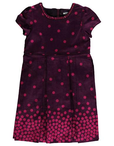 HARTSTRINGSGirls 2-6x Dotted Corduroy Dress