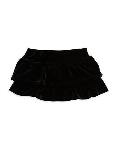 HARTSTRINGSGirls 2-6x Tiered Velvet Skater Skirt