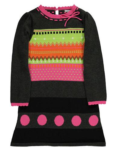 HARTSTRINGSGirls 2-6x Girls 2-6X Fair Isle Cotton Sweater Dress