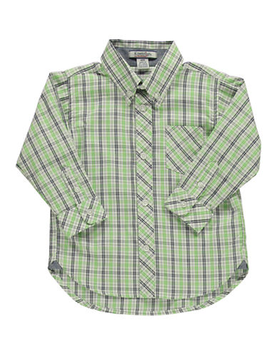 HARTSTRINGS Baby Boys Cotton Plaid Button-Front Shirt