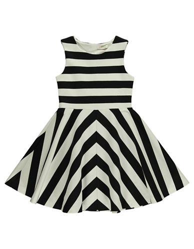 Shop Kc Parker online and buy Kc Parker Girls 7-16 Striped Fit And Flare Dress dress online