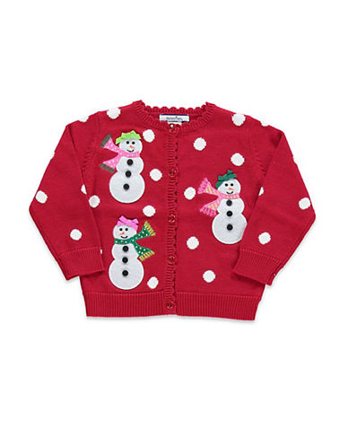 Hartstrings Baby Girls Snowman Cardigan