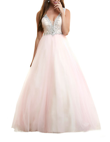 Beaded Tulle Gown $366.75 AT vintagedancer.com