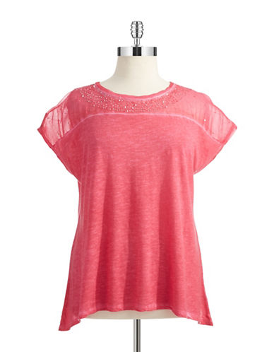 DKNY JEANS PLUSPlus Sequin Accented Tee