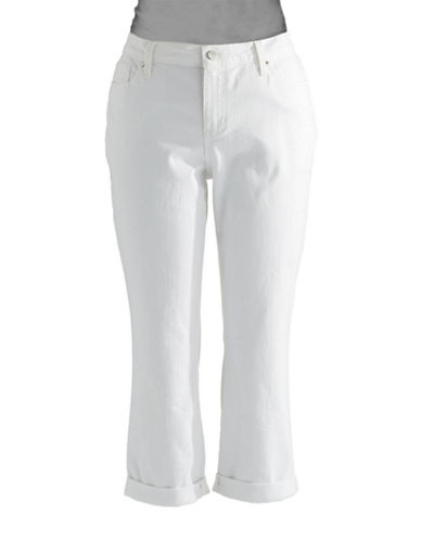 DKNY JEANS PLUS Plus Skinny Cropped Jeans