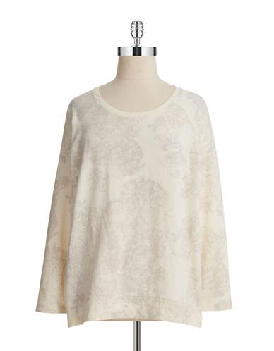Dkny Jeans Plus Plus Lace Print Burnout Pullover