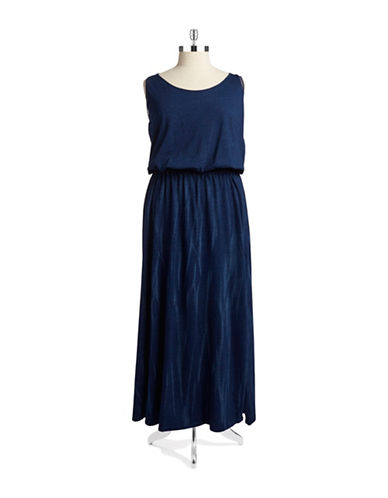 Shop Dkny Jeans Plus online and buy Dkny Jeans Plus Plus Cotton Maxi Dress dress online