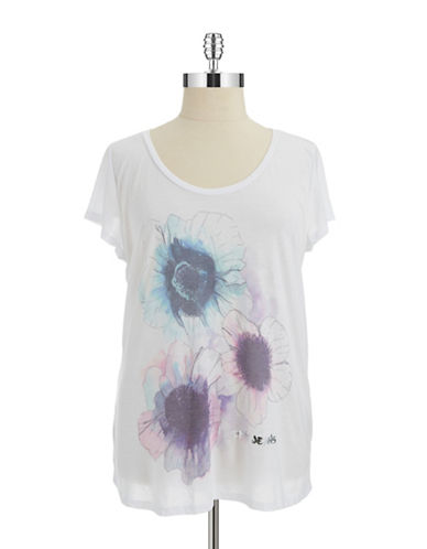 Dkny Jeans Plus Plus Watercolor Floral Tee