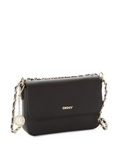 Dkny Crosshatched Leather Crossbody Bag