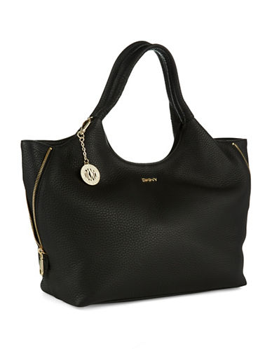 DKNY Tribeca Textured Leather Hobo Bag