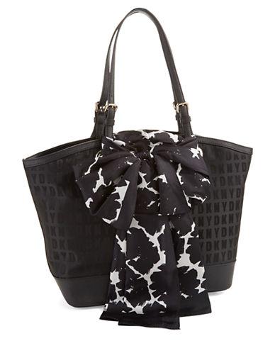 DKNYLogo Patterned Shopper Bag