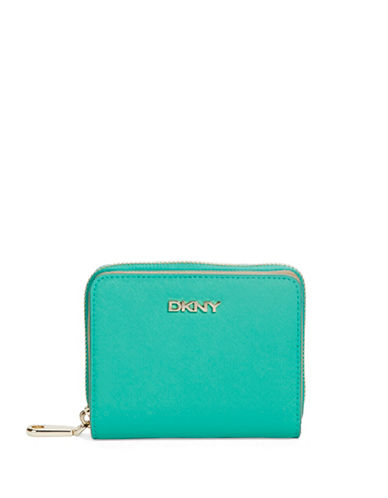 DKNYSmall Two Compartment Saffiano Leather Wallet