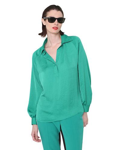 ISAAC MIZRAHI NEW YORKLong-Sleeve Blouse