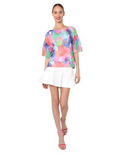 ISAAC MIZRAHI NEW YORKMulti-Color Print Pullover Top