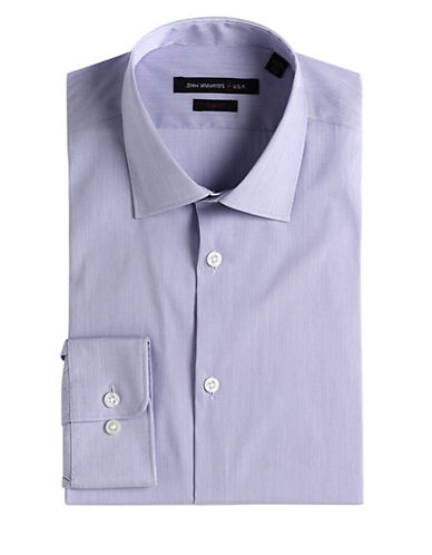 JOHN VARVATOS U.S.A. Slim-Fit Micro-Stripe Dress Shirt