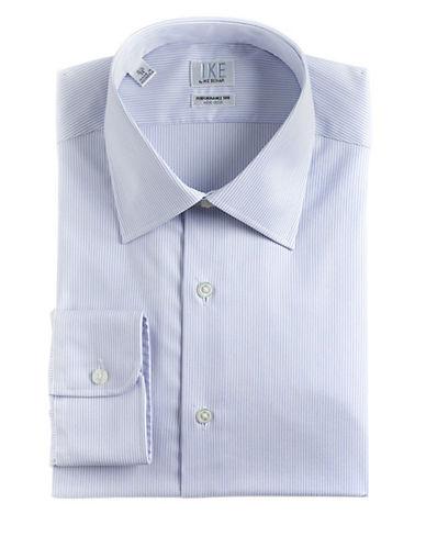 IKE BY IKE BEHARRegular Fit Striped Cotton Dress Shirt