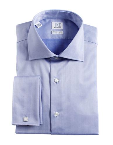 IKE BY IKE BEHARRegular Fit French Cuffed Herringbone Cotton Dress Shirt