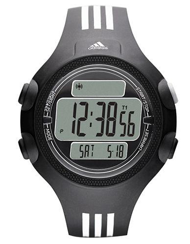 ADIDASMens Questra Black and White Digital Chronograph Sport Watch