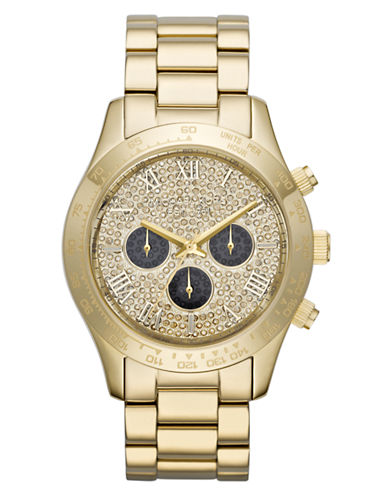 Michael Kors Ladies Layton Chronograph Glitz Watch
