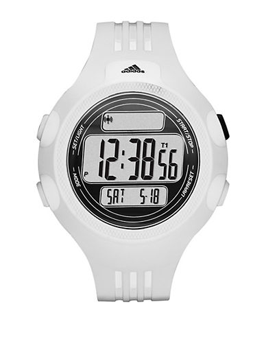 ADIDASMens Questra White Digital Chronograph Sport Watch