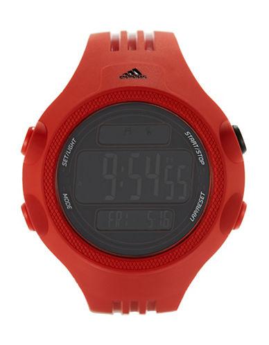 ADIDASMens Questra Red Digital Chronograph Sport Watch