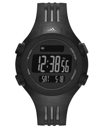 ADIDASMens Questra Matte Black Digital Chronograph Sport Watch