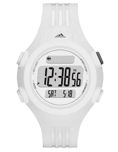 ADIDASMens Questra Matte White Digital Chronograph Sport Watch