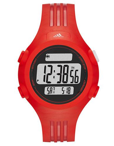 ADIDASMens Questra Matte Red Digital Chronograph Sport Watch