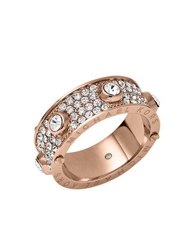 MICHAEL KORSRose Gold-Tone Crystallized Astor Ring