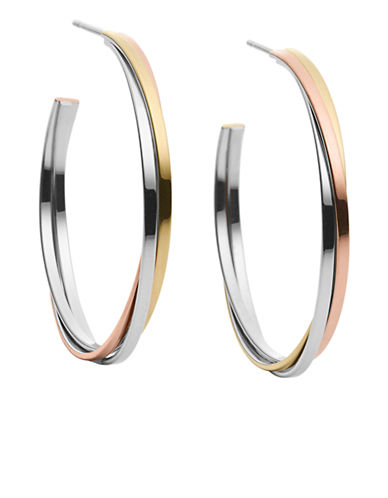 Upc 796483074101 Zoom Has Following Product Name Variations Michael Kors Creole Tricolor Hoop Earrings Mkj3286998