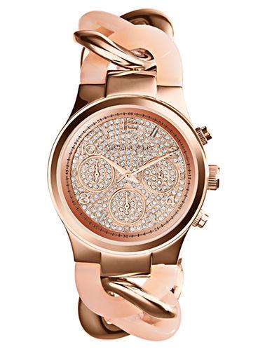 MICHAEL KORSLadies Runway Rose Gold-Tone Chronograph Glitz Watch