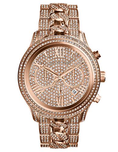 MICHAEL KORSLadies Rose Gold-Tone Lindley Chronograph Glitz Watch
