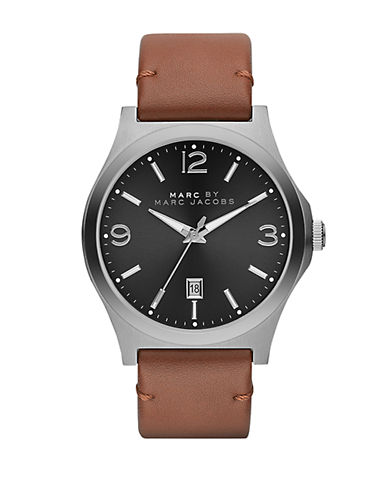 MARC BY MARC JACOBS Mens Danny Stainless Steel and Leather Watch