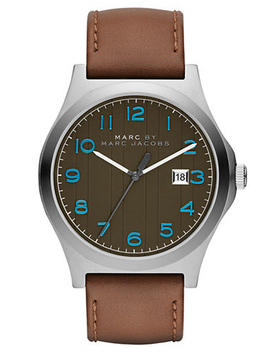 MARC BY MARC JACOBSJimmy Stainless Steel & Leather Strap Watch