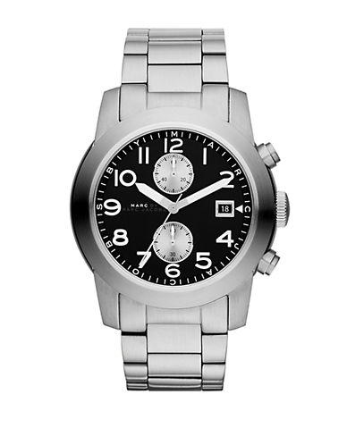 MARC BY MARC JACOBSMens Larry Stainless Steel Chronograph Watch